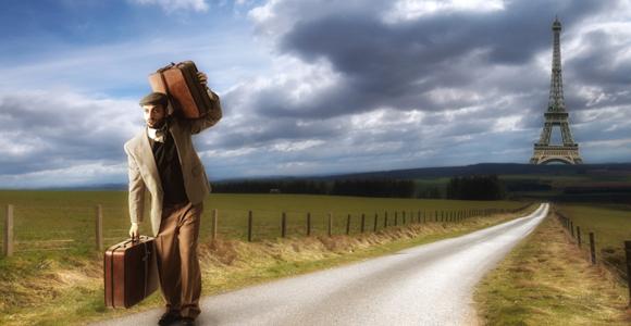 Arbeiten im Ausland, Rente in Deutschland?. arbeit-koffer-eiffelturm